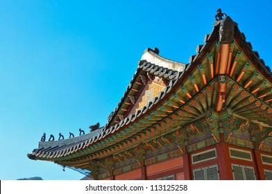 Korean Wooden Roof