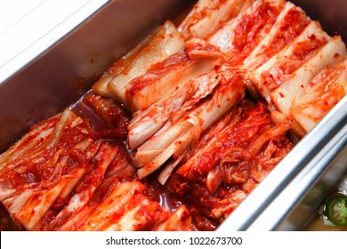 Korean-style kimchi on a plate