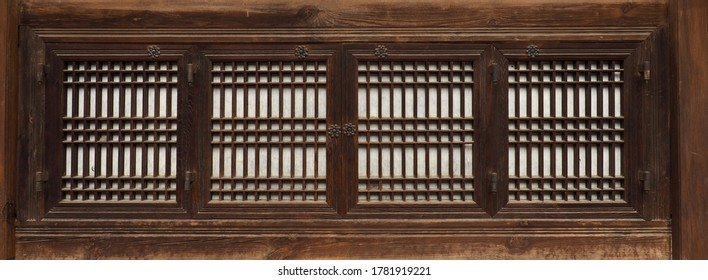 Korea's old traditional windows background  - Shutterstock ID 1781919221