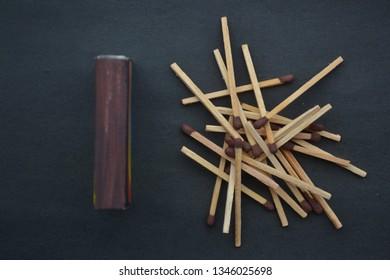 Korek api kayu are wooden lighters. Wooden matches. Matchsticks. Matches