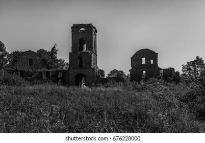 Korets Castle, old castle ruins, Ukraine