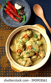 Korma, also spelled kormaa, qorma, khorma, kurma or qovurma, is a dish originating in South Asia consisting of meat or vegetables braised in a spiced sauce made with yogurt, cream, nut or seed paste.