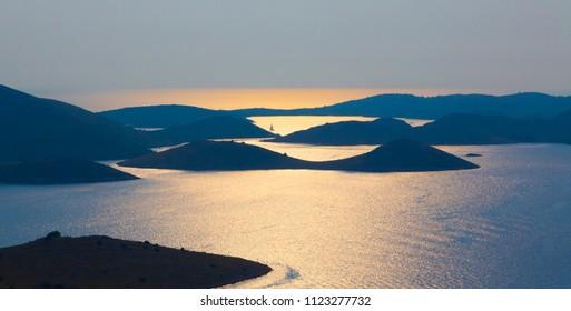 Kornati island in the summer afternoon, Adriatic Sea, Croatia