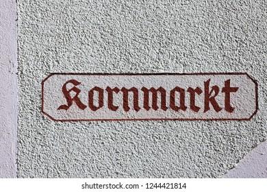 Kornmarkt Bad Windsheim is a city in Bavaria Germany