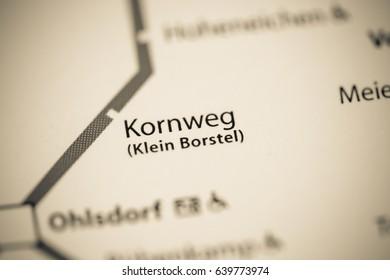 Kornweg Station. Hamburg Metro map.