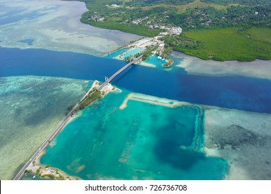 Koror Bridge beautiful areal view - Japan Palau Friendship Bridge - Best Diving/ Snorkelling - Pacific Ocean- Micronesia - Babeldaob