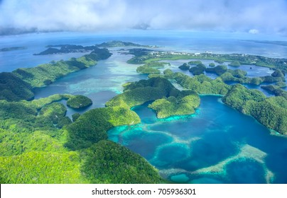 Koror, Palau from Above