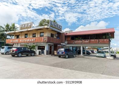 KOROR, PALAU - DECEMBER 11, 2016: Anthias Cafe in Koror, Palau