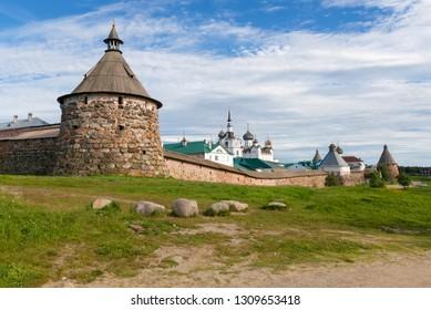 Korozhnaya tower of the Spaso-Preobrazhensky Solovetsky Monastery. . Russia, Arkhangelsk region, Primorsky district, Solovki