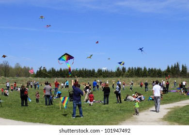 KORTRIGHT CENTER � MAY 06:  Four Winds Spring Kite Festival in May 06 2012 in Kortright Center in Ontario, Canada. Annual international  festival features participants, viewers and community groups.