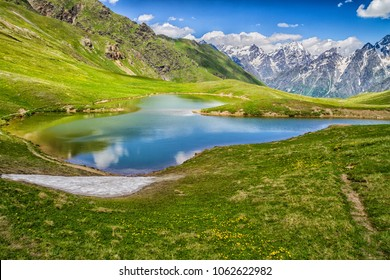 Koruldi lakes in Caucasus mountains, Georgia