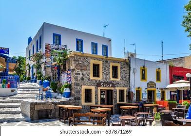 Kos, Greece - August 31 - Charming street of Kos city on August 31, 2014