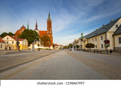 Kosciusko Main Square with Basilica in Bialystok, Poland.