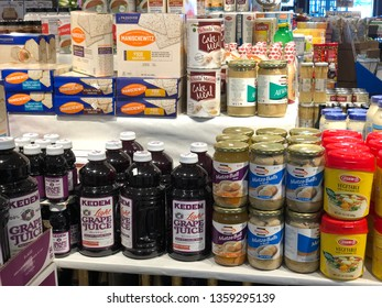 Kosher for Passover Groceries shopping Bloomfield Hills, Michigan, April 4, 2019