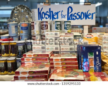 Kosher Passover Groceries Shopping Bloomfield Hills Stock