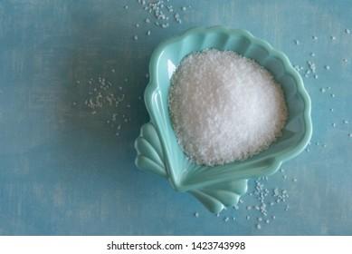 Kosher Salt in a Seashell Bowl