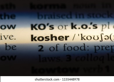 kosher word in a dictionary. kosher concept.