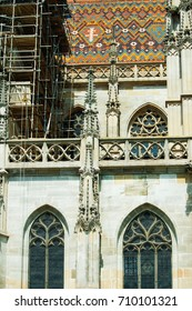 Kosice, fragments of the Cathedral of St. Elizabeth, Slovakia