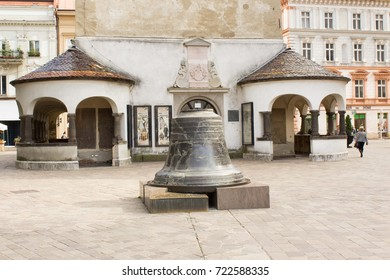 Kosice, Slovakia - 10 September ,2017 - Saint Urban Bell In Kosice, was installed in the St. Urban Tower in Košice was destroyed by fire. It was renovated and located in the front of the tower.