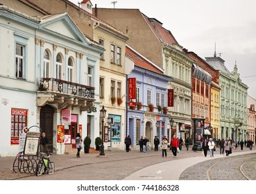 KOSICE. SLOVAKIA. 24 OCTOBER 2012 : Main square in Kosice. Slovakia