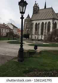 Kosice, Slovakia - April 6, 2019 - Cathedral of st Elizabeth