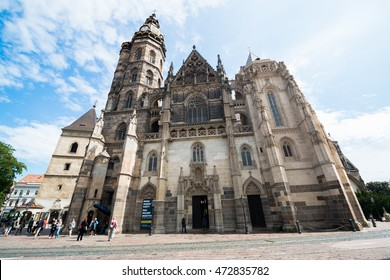 Kosice, Slovakia, August 23, 2016: Cathedral of St. Elizabeth in Slovakia