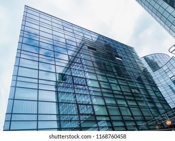 KOSICE, SLOVAKIA - JULY 25, 2018. Modern business centre in Kosice. Modern architecture, glass buildings. Slovakia