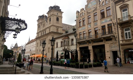 Kosice Slovakia - JUNE 26, 2017: Beautiful views of the city's central street.