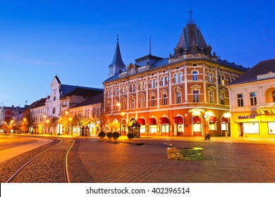 Kosice, Slovakia - March 19, 2016: Neo-Renaissance Andrassy Palace in the main square of Kosice city in eastern Slovakia.