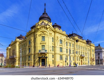 KOSICE, SLOVAKIA - MARCH 25, 2017 - Building of East Slovak Museum in Kosice (Kassa). Kosice is the 2nd largest city (after Bratislava) in Slovakia with 555,800 people living in metro area.