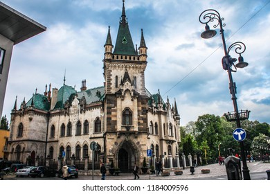 Kosice, Slovakia / May 12, 2015: the Palace of Jacob. The building in the Gothic style was built by and for its own design by the architect Peter Jakab