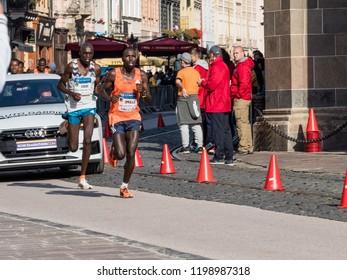 KOSICE, SLOVAKIA - October 6, 2018. 95 Mezinarodni Maraton Mieru, 95 MMM 2018, Kosice. 95 International Marathon of Peace Kosice, SLOVAKIA