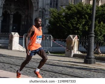 KOSICE, SLOVAKIA - October 6, 2018. 95 Mezinarodni Maraton Mieru, 95 MMM 2018, Kosice. I95 nternational Marathon of Peace Kosice, SLOVAKIA