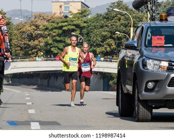 KOSICE, SLOVAKIA - October 6, 2018. 95 Mezinarodni Maraton Mieru, 95 MMM 2018, Kosice. 95 International Marathon of Peace Kosice, SAHAJDA Tibor, SLOVAKIA