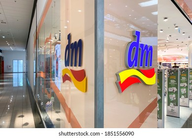 Kosice/Slovakia July 28, 2020 DM-drogerie markt is a chain of retail stores headquartered in Karlsruhe, Germany, that sells cosmetics, healthcare items, household products and health food.