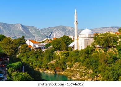 Koski Mehmed pasa Mosque. Mostar, the cultural capital of Bosnia and Herzegovina.