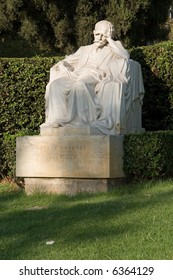 Kostis Palamas statue, national poet of Greece