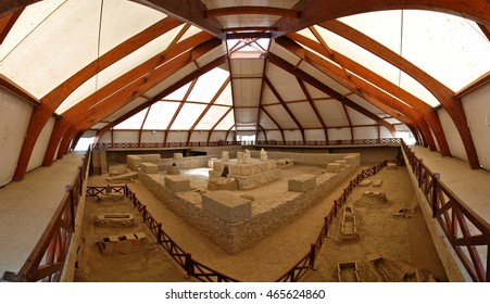 KOSTOLAC, SERBIA - MAY 21, 2009: The Remains of Viminacium, The Capital of The Roman Province of Moesia Superior (1st to 5th century A.D.)