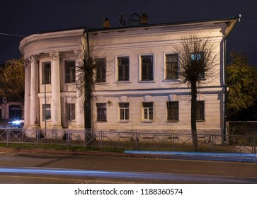 KOSTROMA. RUSSIA. 27 OCTOBER 2017 : House of Schepetilnikov (former children shelter) in Kostroma. Russian