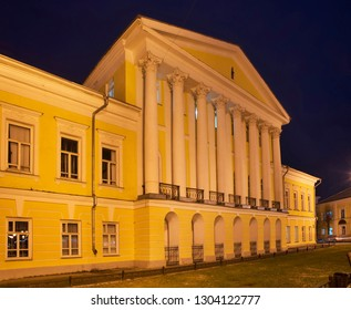 KOSTROMA. RUSSIA. 27 OCTOBER 2017 : House of general S. Borshchov at Susanin square in Kostroma. Russian