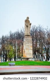 Kostroma, Russia - April 30, 2010: Statue of Ivan Susanin in Kostroma in Russia