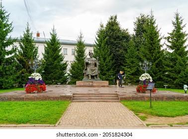 Kostroma, Russia - August 12, 2020: Monument to Yuri Dolgoruky