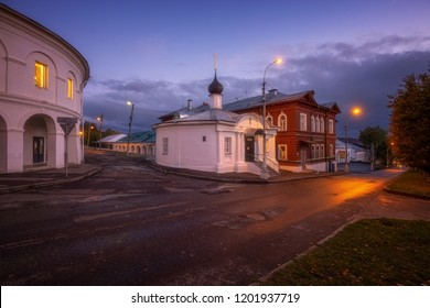 Kostroma, Russia - September 27, 2018: St. Nicholas Chapel is located near the center of Kostroma, on the left side, if go down from Susanin square to the Volga River.