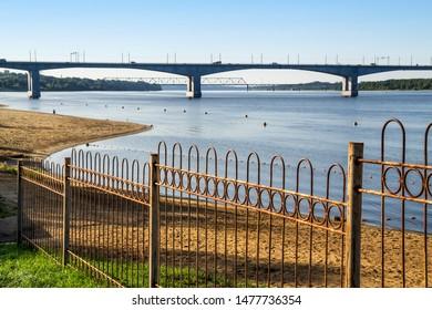 Kostroma, Volga river in the summer