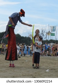 Kostrzyn nad Odra, Poland 01.08.2014: People on Woodstock Festival