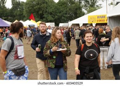 KOSTRZYN NAD ODRA POLAND 16 JULY 2016: 22. Festival Przystanek Woodstock People