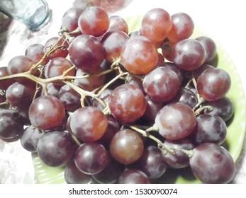 Kota Bengkulu, Indonesia, October 12 2019 : red grapes