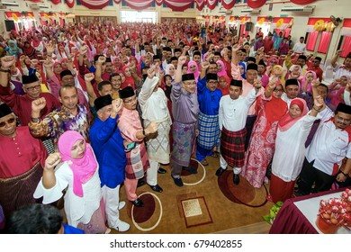 KOTA BHARU,KELANTAN - 8 JULY 2017: The opening ceremony of the Wanita Gerakan Wanita, Umno Youth and Puteri Ketereh, was inaugurated by UMNO Vice Preserent DS Hishammuddin Tun Hussein at SMK Kadok.