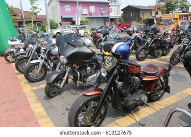 KOTA BHARU,KELANTAN -  Motorcycle Harley Davidson parked in the city on March 18, 2017 in Kota Bharu ,Kelantan.Malaysia.