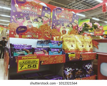 Kota Damansara, Selangor, Malaysia, 27th January 2018 - Cadbury chocolate that so delicious is on sale during Chinese New Year